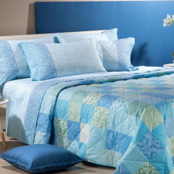 7718 7 PROVENZA azzurro QUILT 2P.
